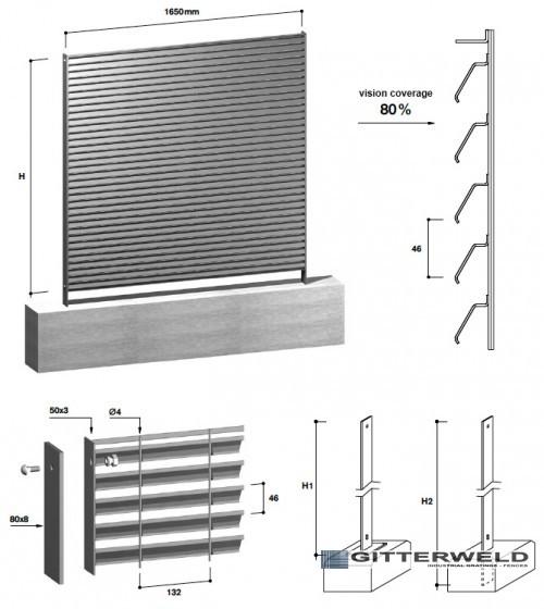gard metalic tip LOUVER 80