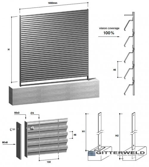 gard metalic tip LOUVER 100